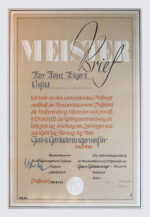 Heinz Hilgers Meisterbrief