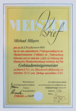 Michael Hilgers Meisterbrief